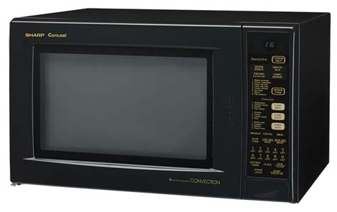 Sharp Convection Microwave Oven Countertop by R 930ak Black Convection Microwave Oven 1 5 Cu Ft Oven