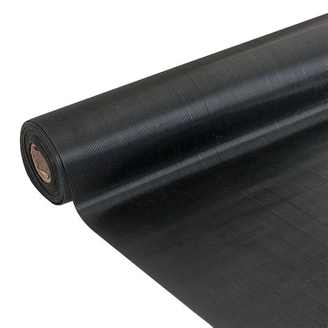 10 By 10 Rubber Mat Roll - ribbed rubber matting parrs workplace equipment