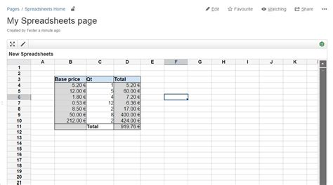 Cloud Spreadsheet by Spreadsheets For Confluence Goes Cloud Valiantys