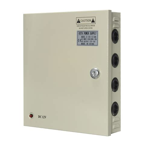 Power Supply Box 20 A 8 channel cctv power supply