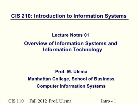Mba Computer Information Systems by O G Value Chain By Saporito