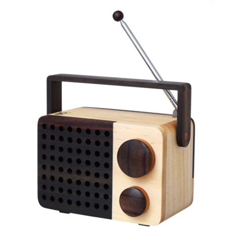Handcrafted Radio - handmade wooden mini radio by magno cult uk
