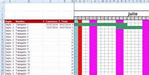 Calendario 2017 Vacaciones Plantilla Para De Vacaciones Ayuda Excel