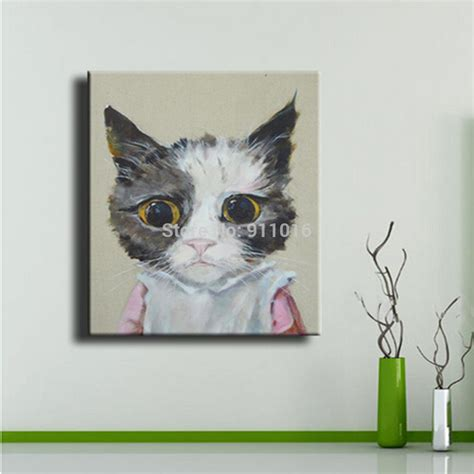 cat wallpaper home decor hand painted oil paintings gallery modern canvas paintings