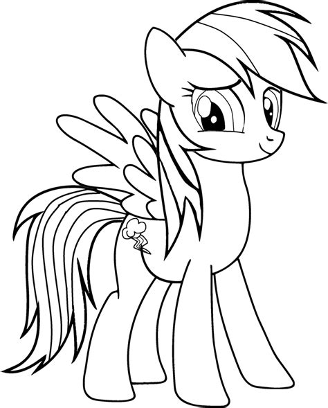 Coloring Page Rainbow Dash | free rainbow dash applejack coloring pages