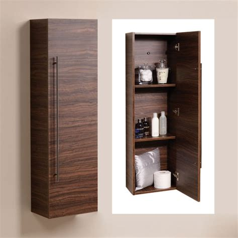 Aspen 120cm Walnut Wall Mounted Storage Unit Create A Wall Mounted Bathroom Shelving Units