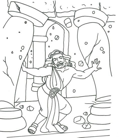 free samson bible story coloring pages