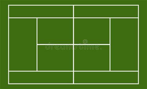 template realistic tennis court with lines stock vector