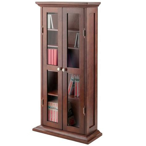 walnut bookcase with glass doors glass door bookcases easy home concepts