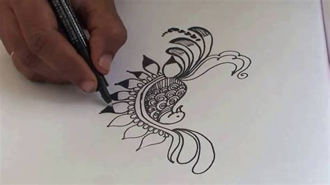 simple peacock tattoo design simple peacock mehndi designs 05 easy style how to make