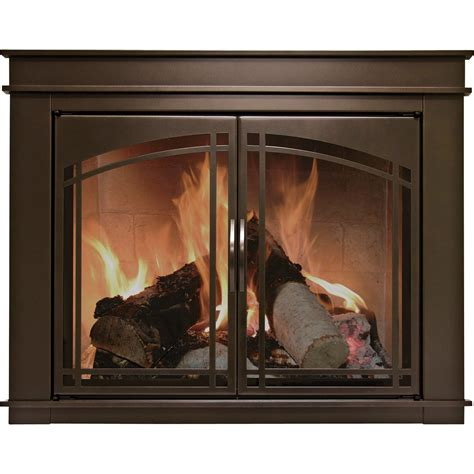 Pleasant Hearth Fireplace Glass Doors Pleasant Hearth Fenwick Fireplace Glass Door Bronze For 36in 43in W X 25 5in To 32 5in H