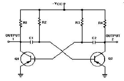 transistor multivibrator astable oscillator circuit page 2 oscillator circuits next gr