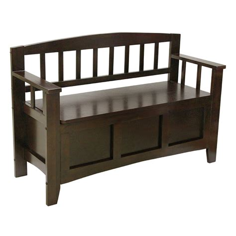 entryway benches shop transitional chocolate storage bench at lowes com