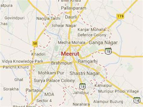 meerut on india map 13 meerut map jpg