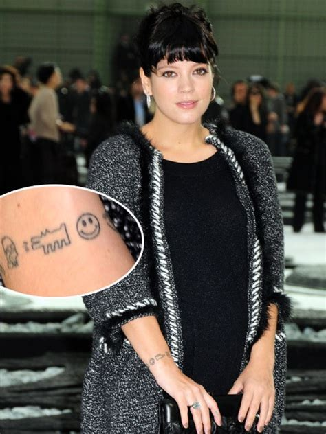 lily allen wrist tattoo can you guess the by their mamamia