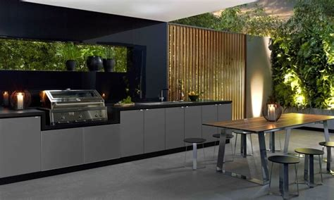 modern outdoor kitchens cooking fresh is easy in modern outdoor kitchens