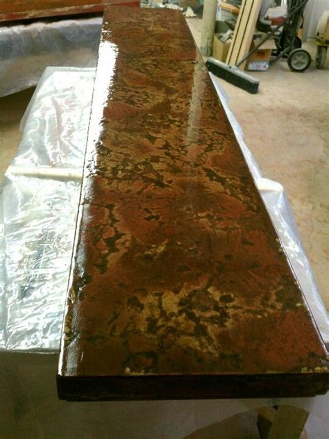 concrete bar top in process custom concrete projects by