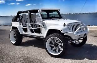 Tires For Jeeps White Jeep Wrangler With Forgiatos And 37 Inch Mud Tires