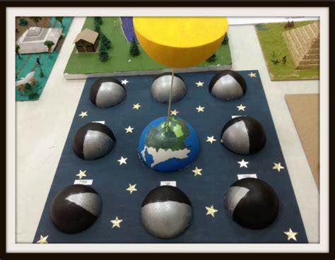 como hacer una maqueta de las 8 fases lunares interactiva fases de la luna geografia pinterest sistema solar