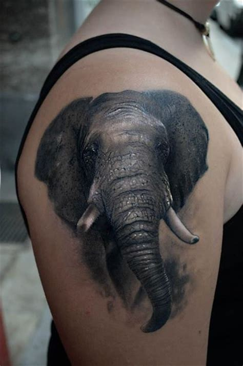 black and grey elephant tattoo 50 asian elephant tattoos collection