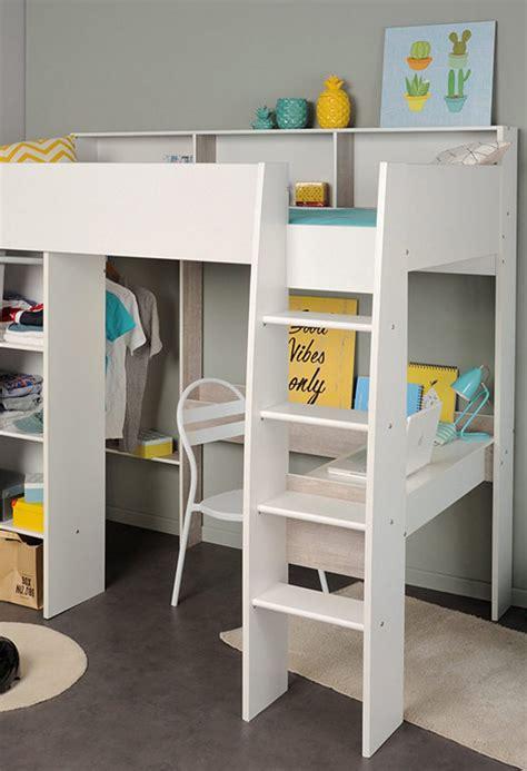un lit mezzanine pour la chambre des enfants but