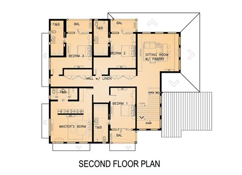 house design second floor second floor plans modern house plan with 2nd floor terace 21679dr 2nd floor master
