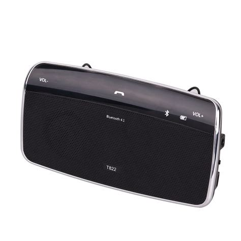 universal bluetooth car speakerphone sun visor handsfree car kit  receiver