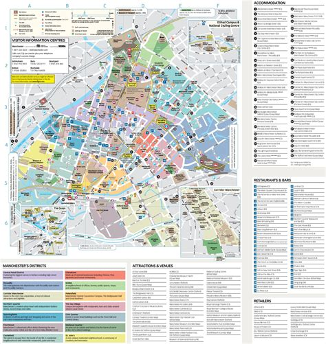 map of tourist attractions manchester tourist attractions map