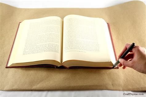 How To Make A Book Cover From Paper Bag - fashioned paper bag book covers craft thyme