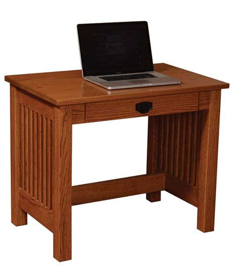 Mission Valley 36 Inch Deluxe Writing Desk Ohio Hardwood 36 Inch Computer Desk