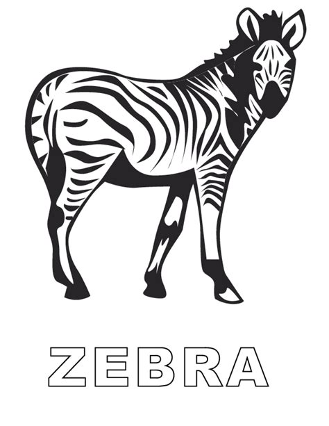 printable zebra pics zebra coloring pages to print az coloring pages