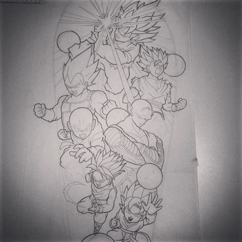 dragon ball tattoo designs would to this z sleeve