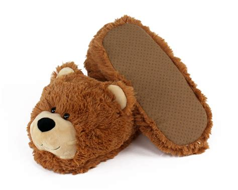 bear house shoes fuzzy bear slippers teddy bear slippers bear slippers