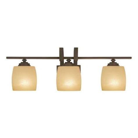 hton bay bathroom lighting hton bay 3 light bronze bath light 25107 the home depot