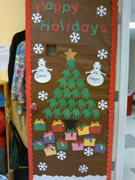 christmas decorations in classroom kindergarten class preschool door idea doors