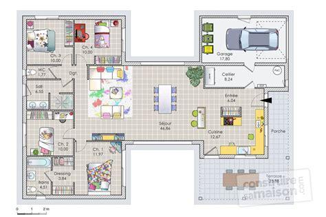 Plan De Maison En U 4012 plan de maison en u cuisine gorgeous plan maison en u