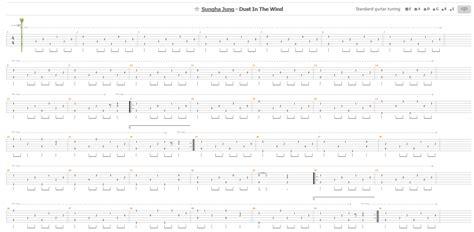 tutorial guitar dust in the wind guitar tabs tutorial sungha jung dust in the wind