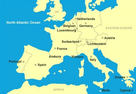 Maps: Map Of Europe Monaco