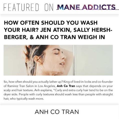 how often should you wash your hair slide 1 press anh co tran celebrity hair stylist los angeles