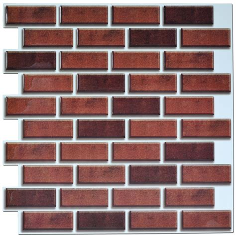 Set Tile Stick Hime peel and stick brick backsplash tile for kitchen 12 quot x12