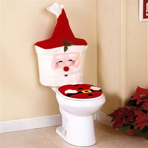 2pcs santa toilet seat cover bathroom set christmas xmas
