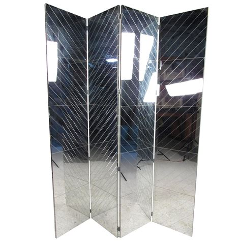 mirrored room divider vintage mirrored room divider for sale at 1stdibs