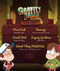 user blog asnow89 food fiction create a grub menu gravity falls wiki fandom powered by wikia