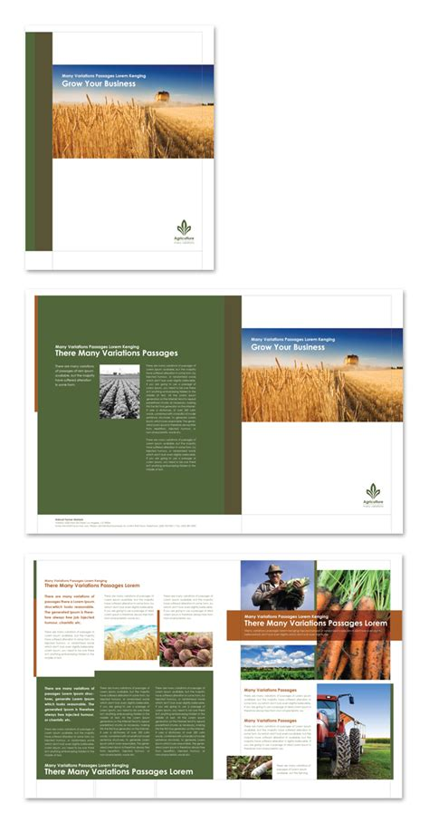 agriculture brochure templates farming agriculture brochure template