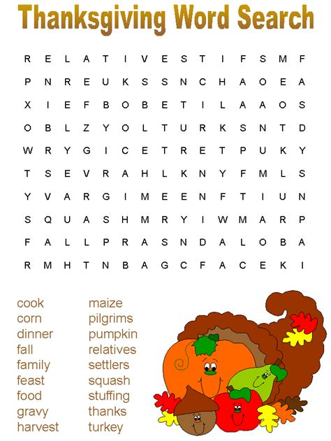 Search Pages Thanksgiving Mazes Word Search Reflections Of Pop Culture S Challenges