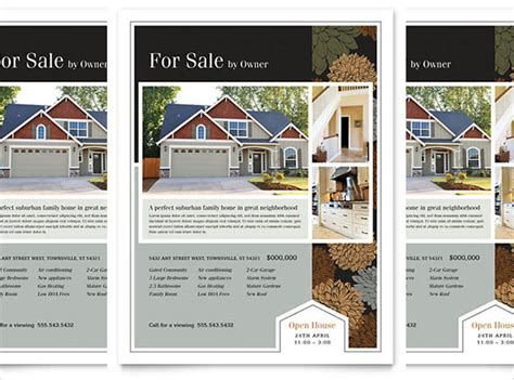 templates for house for sale by owner flyers for sale by owner brochure template 17 free download real