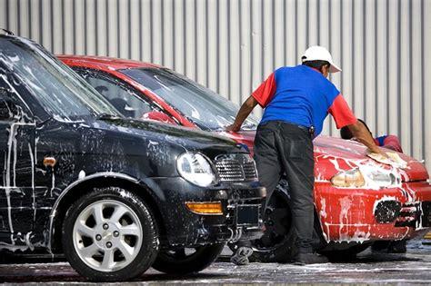 auto mobile de le lavage automobile un march 233 porteur en plein