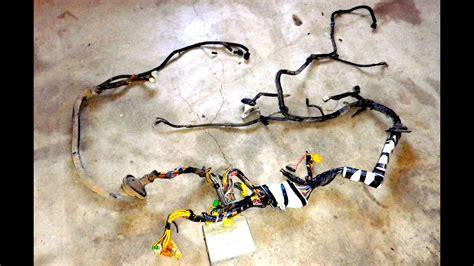 subaru wiring harness pull  vw engine swap youtube