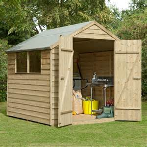 Shed 7x7 Overlap Double Door Wooden Shed Buy Sheds Direct Uk