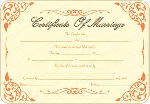 marriage certificate templates free printable marriage certificate template